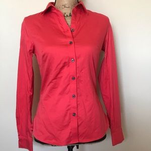 NWOT red banana republic button down blouse